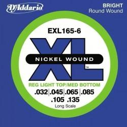 Струни за 6 струнен бас:D'addario EXL 165-6