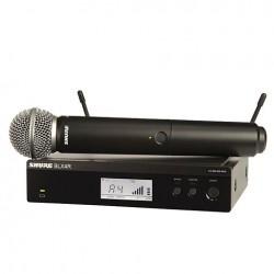 Безжичен вокален микрофон :SHURE BLX24R/SM58