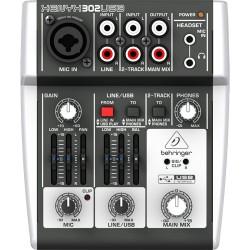 Смесителен пулт с USB : BEHRINGER XENYX302 USB