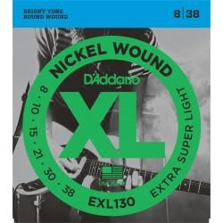 Струни 8/38 : D'Addario EXL130