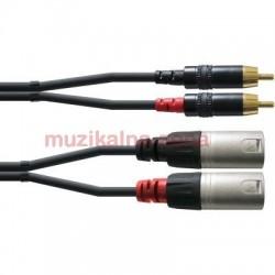 Качествен кабел канон - чинч : CORDIAL CFU 3 MC