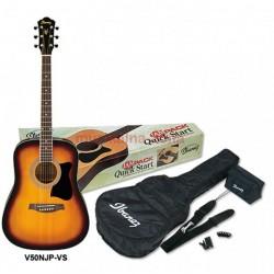 Комплект акустична китара:Ibanez JamPack V50NJP-VS