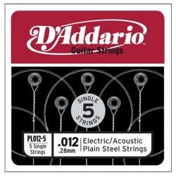 Единична струна : D'Addario PL012-5
