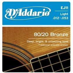 Струни метални: D'Addario EJ11